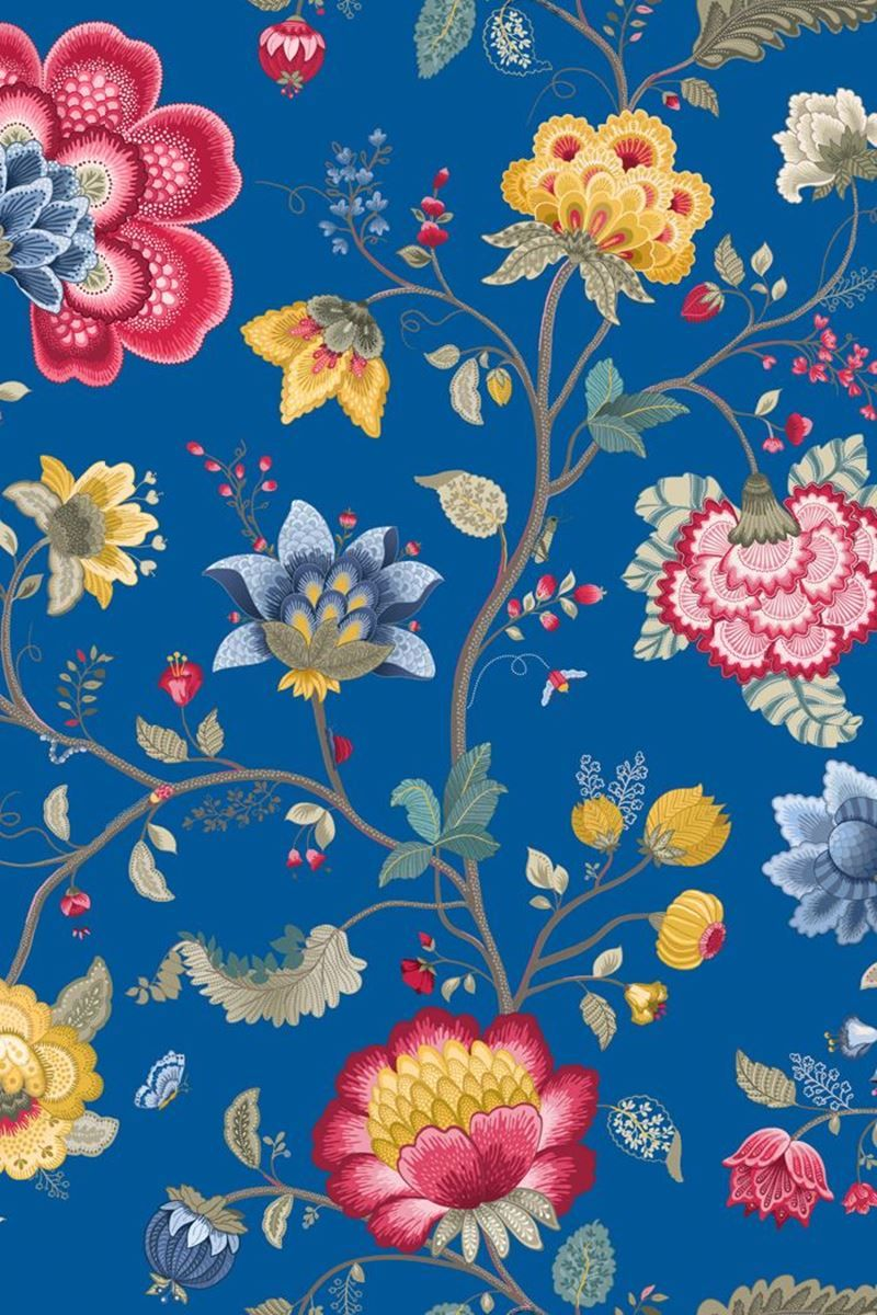 Floral Fantasy Wallpaper Dark Blue Pip Studio The Official Website