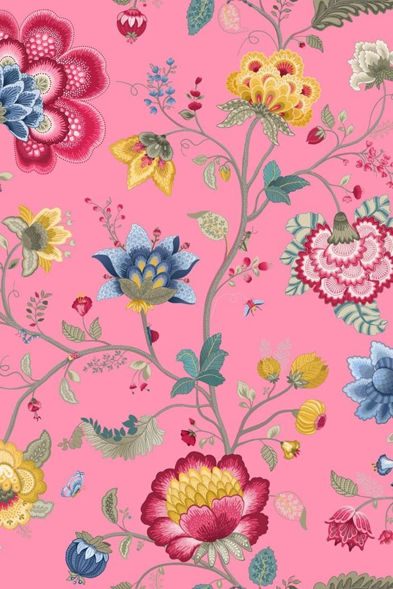 Floral Fantasy Wallpaper Light Pink Pip Studio The Official Website