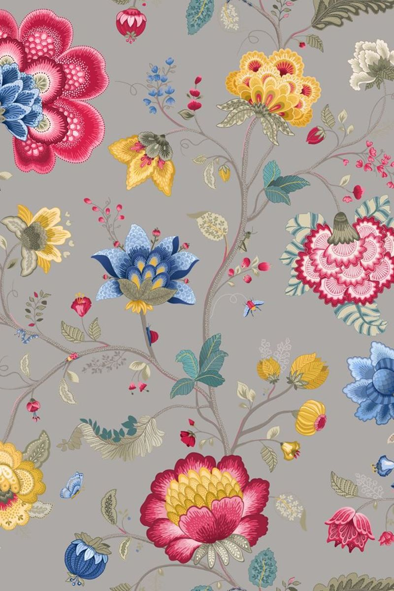 Floral Fantasy Tapete Helltaupe Pip Studio The Official Website
