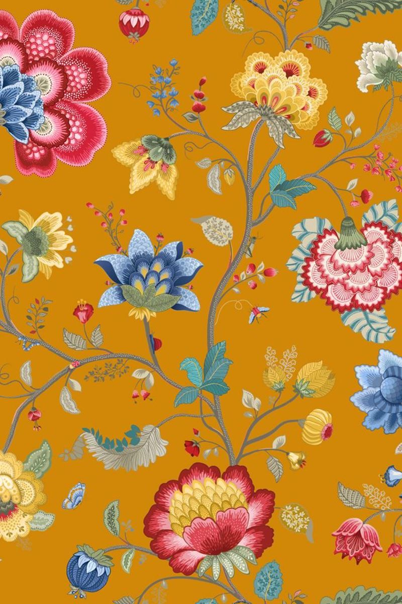 Floral Fantasy Wallpaper Yellow Pip Studio The Official Website