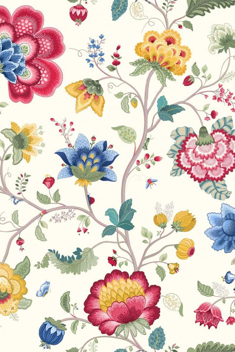 Floral Fantasy Tapete Weiss Pip Studio The Official Website