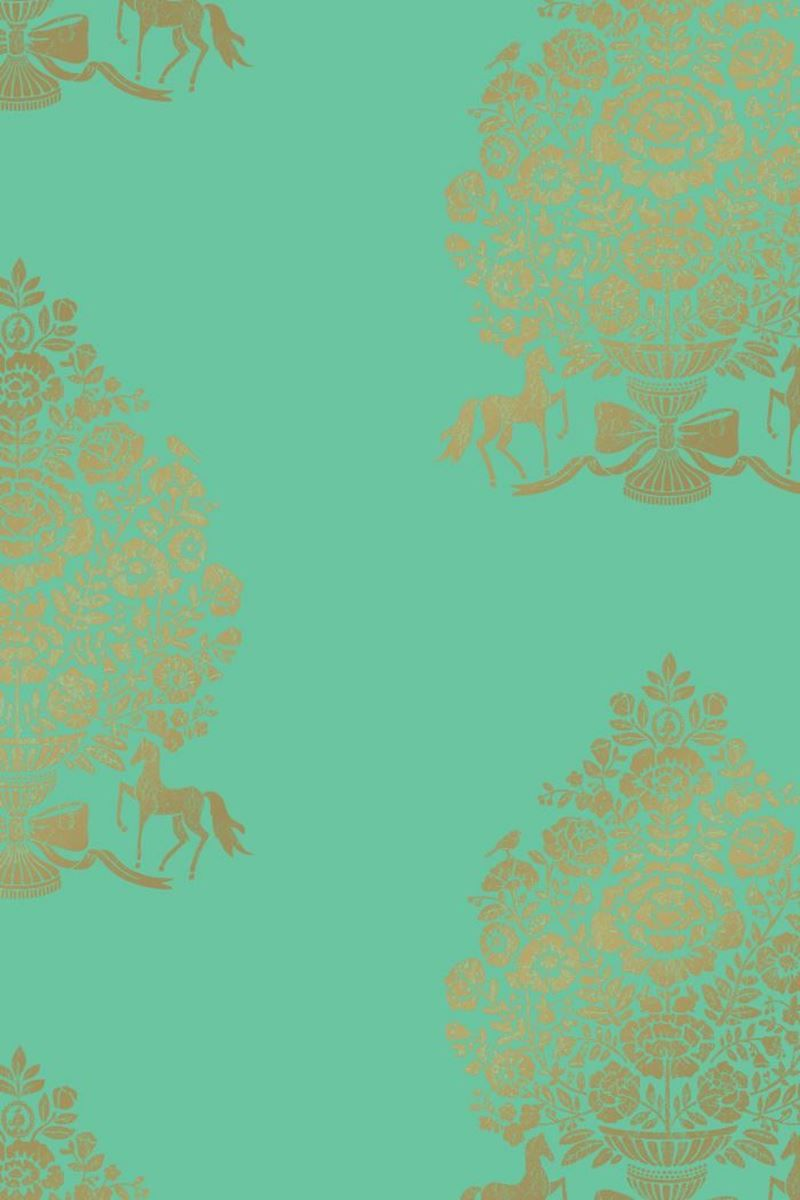 Pip for President wallpaper mint green