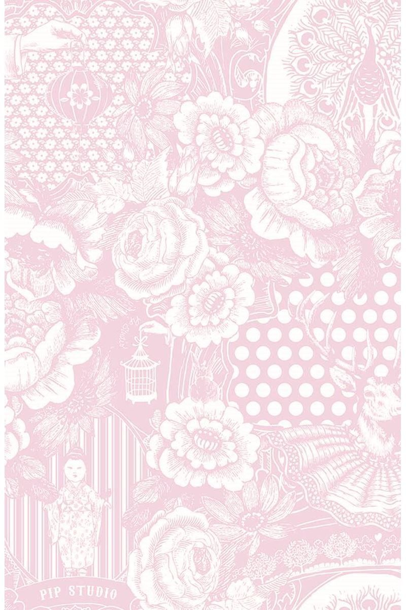 Deerest Peacock Wallpaper Baby Pink Pip Studio The Official Website