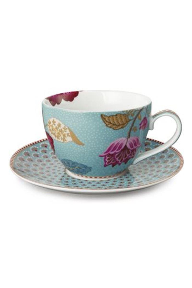 Floral Fantasy Cappuccino Tasse Untertasse Blau Pip Studio The Official Website
