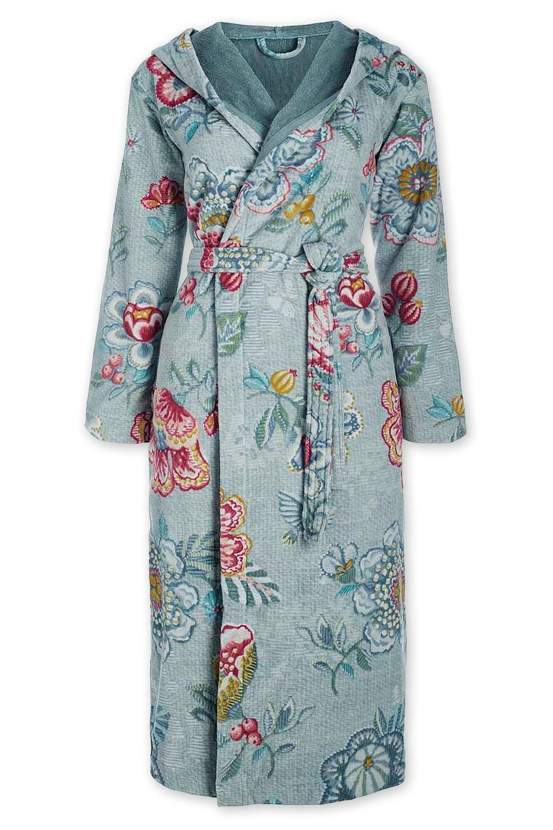 Pip Studio Badjas Birds In Paradise.Bathrobe Berry Bird Blue Pip Studio The Official Website