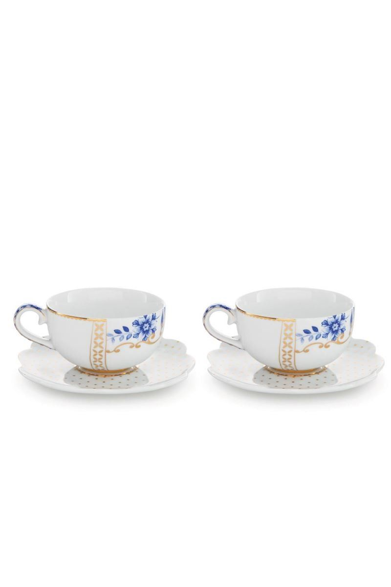 Royal White Set 2 Espresso Cups Saucers Pip Studio The Official Website