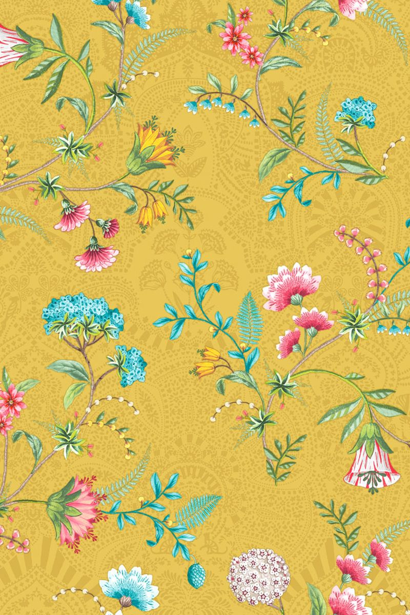 La Majorelle Wallpaper Yellow Pip Studio The Official Website