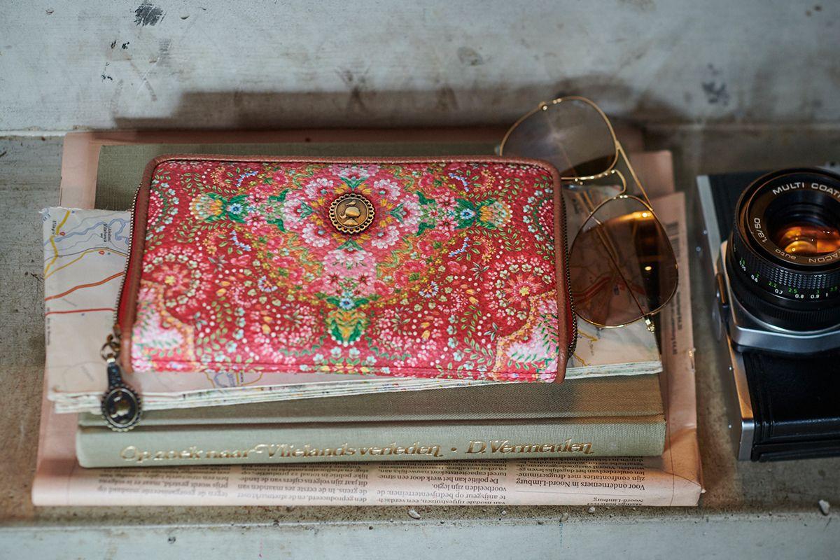Geldbörse mit Blumenmotiv 20 x 11 x 3 cm