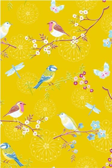 Early Bird wallpaper yellow