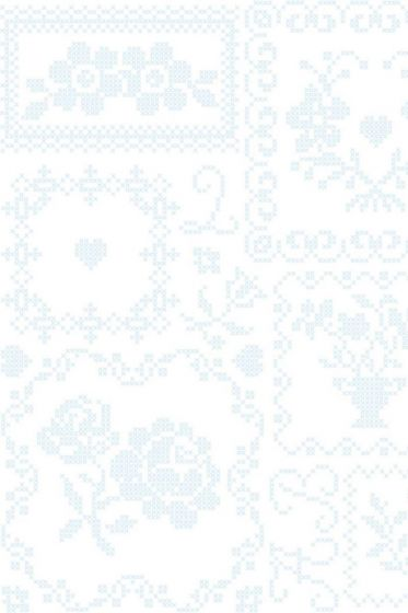 Cross Stitch wallpaper white