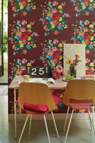 wallpaper-non-woven-vinyl-flowers-Burgundy-pip-studio-dutch-painters