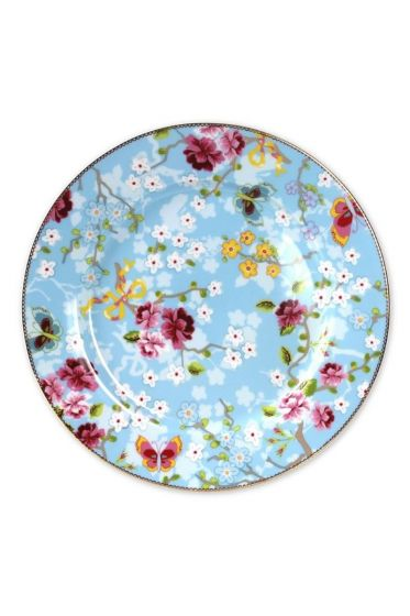 Floral underplate blue