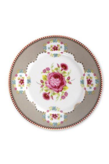 Floral Gebäckteller khaki