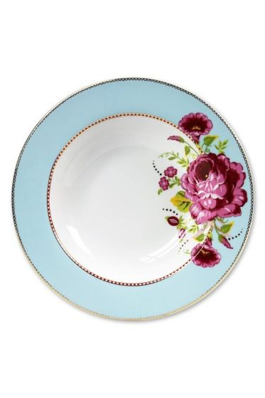 Floral Pastateller blau