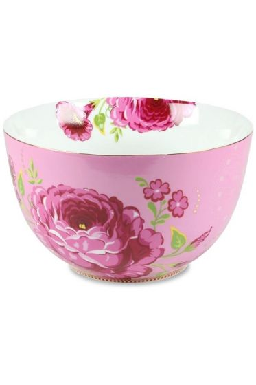 Floral kom XL roze