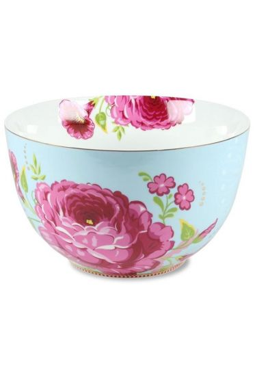 XL Floral bowl blue