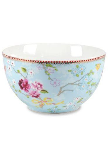 L Floral bowl blue