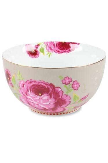 S Floral bowl khaki
