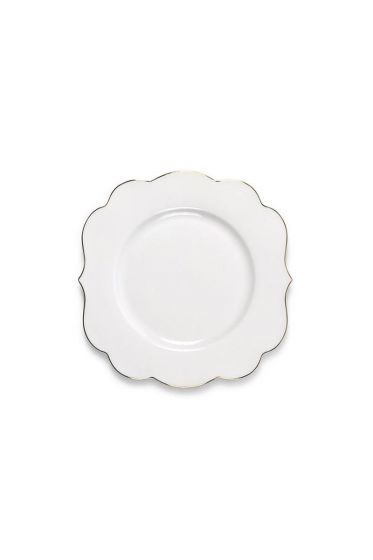 Royal White cake plate 17 cm