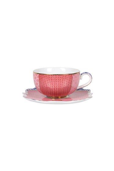 Royal espressotasse und untertasse rosa