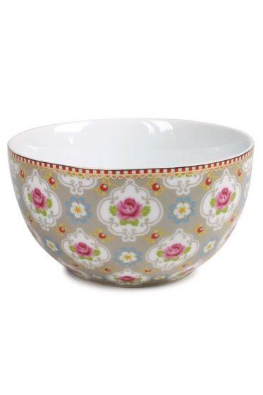 Blossom bowl khaki - 15 cm
