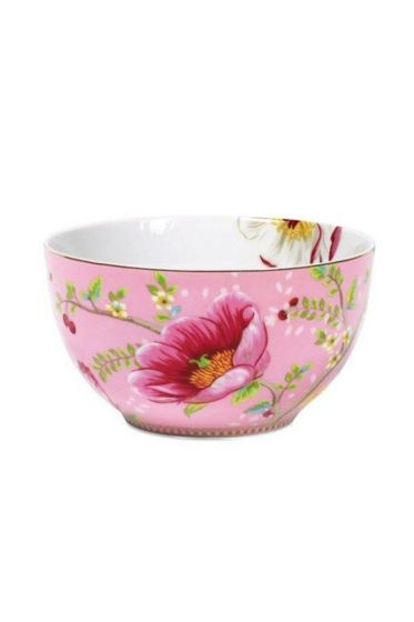 Floral Chinese Garden bowl red