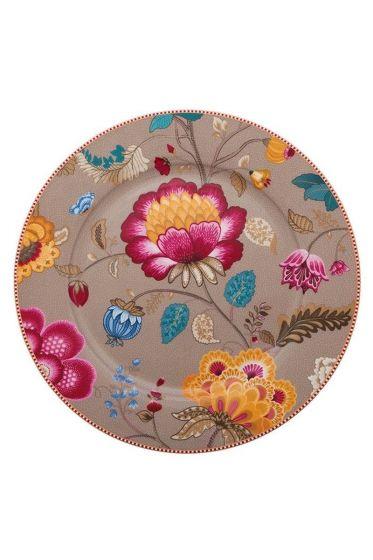 Floral Fantasy underplate khaki
