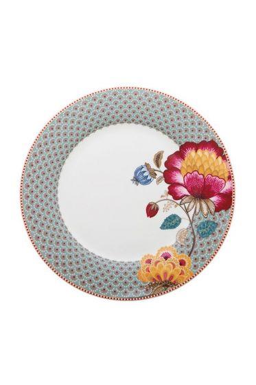 Floral Fantasy dinner plate blue