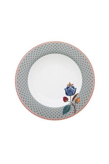 Floral Fantasy soup plate blue