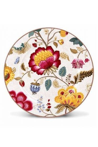 Floral Fantasy underplate white
