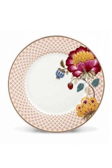 Floral Fantasy dinner plate white