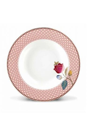 Floral Fantasy soup plate pink
