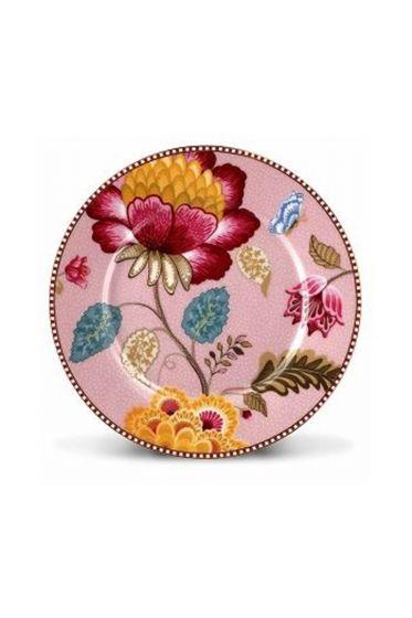 Floral Fantasy Gebäckteller rosa