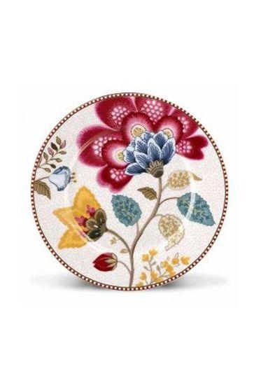Floral Fantasy Gebäckteller weiß