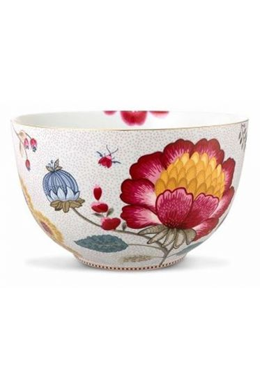 Big Floral Fantasy bowl white