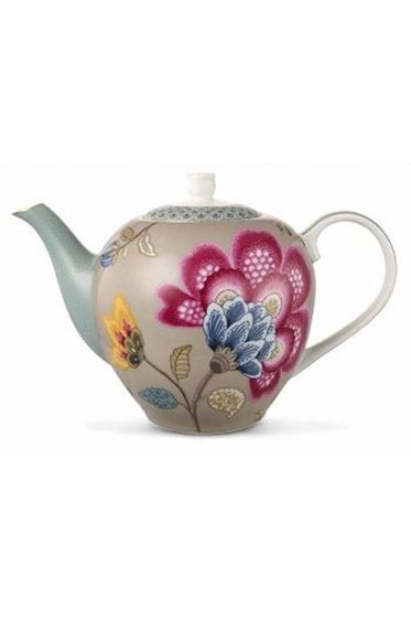 Floral Fantasy Teekanne khaki
