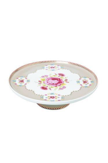 Mini Floral cake platter khaki