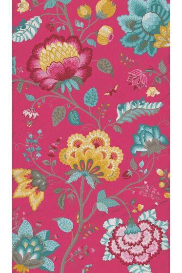 Floral Fantasy Standtuch Dunkelrosa
