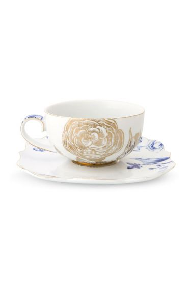 Royal White Tea Cup and Saucer