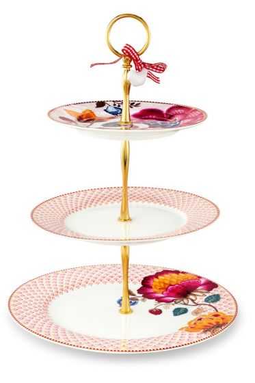 Floral Fantasy Bloomingtales cake stand pink/white