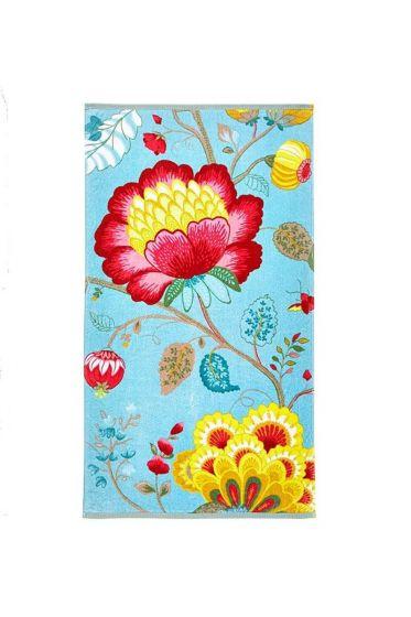 Floral Fantasy Towel Light Petrol
