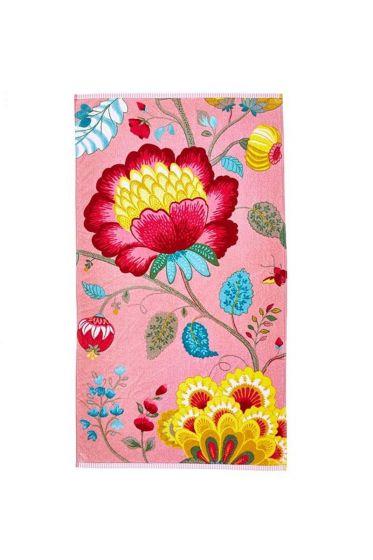 Floral Fantasy Handdoek Roze