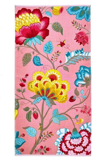 Floral Fantasy XL Handdoek Roze