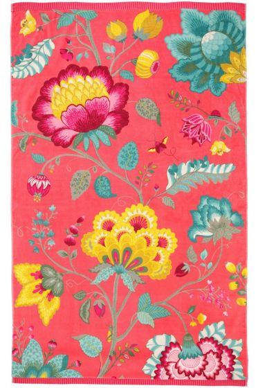 Floral Fantasy Beach Towel Cayenne