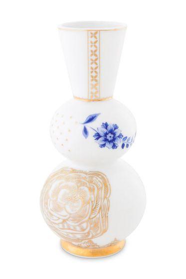 Royal White round vase
