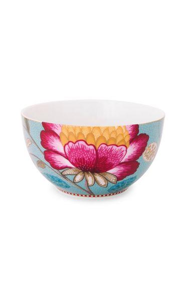 Floral Fantasy bowl blue