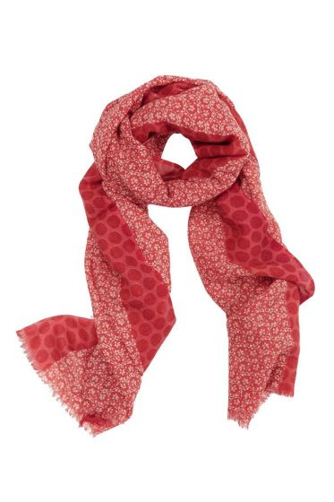 Scarf Lacy Dark Red