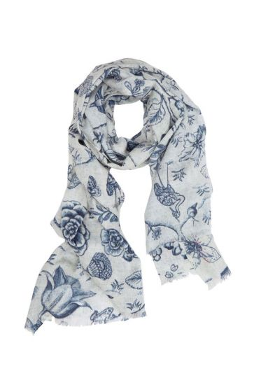 Scarf Spring to Life two-tone Blue