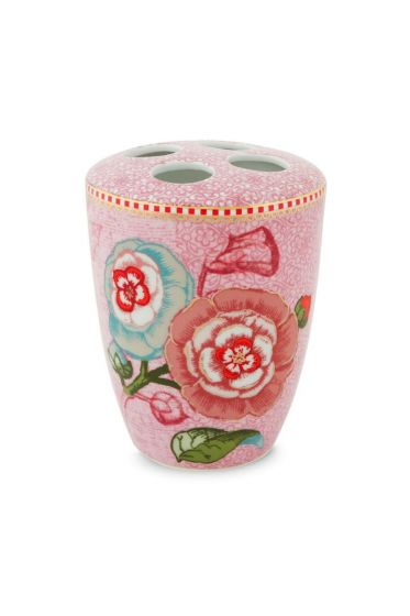 Toothbrush holder Spring to Life Pink