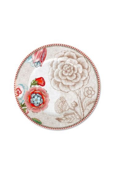 Spring to Life Cake Plate 17 cm Off White